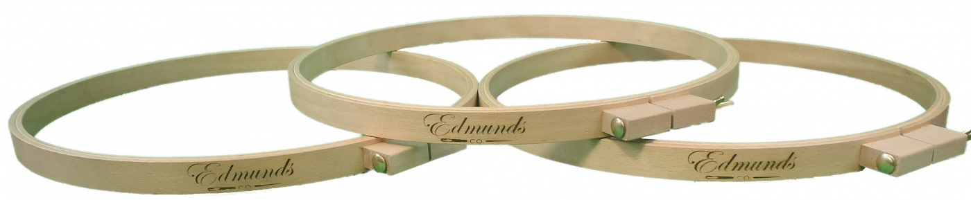 Frank A Edmunds 16-inch Round Wood Quilt Hoop,5589