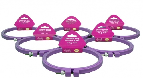 Plastic Embroidery Hoops CNPH 5 Set